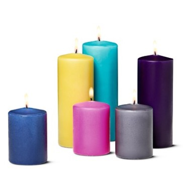Pillar candles, €2 each, tigerstores.ie