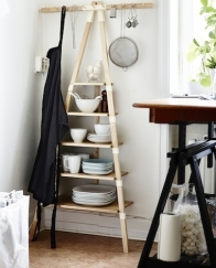 The IKEA PS 2014 wall ladder shelf; ikea.ie. Use it in the larder, in the kitchen, in the bathroom, in the hallway...