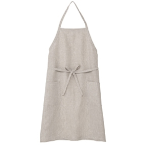 Hemp plain weave apron, in ecru, £24, muji.eu