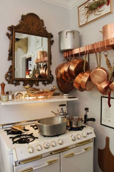 5. copper pots kitchen 4