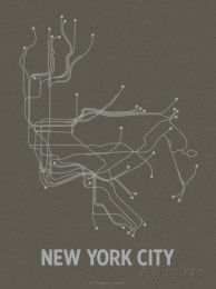 line-posters-new-york-city-charcoal-brown-silver