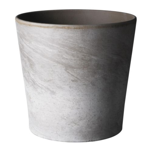 Mandel plant pot, grey-brown, € 2.50, ikea.ie