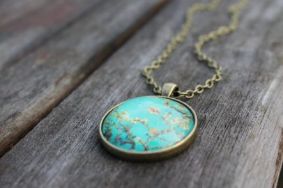 Almond blossom necklace on Etsy