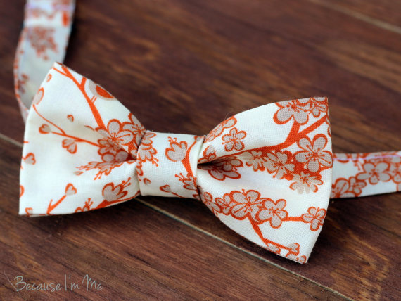 Blossom bow tie on Etsy