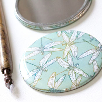 Dragonfly pocket mirror by Jessica Wilde