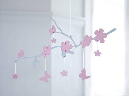 Cherry blossom baby mobile by Bambizi