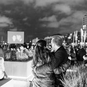 Loved up under the night sky at Grand Canal Dock © Frank Keane