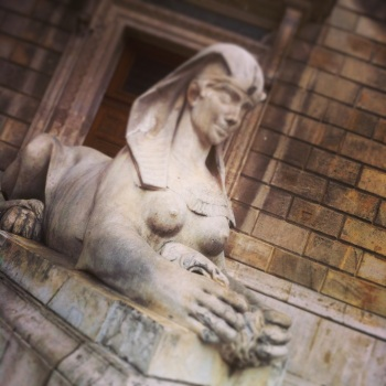 Busty Sphinx at the History Museum