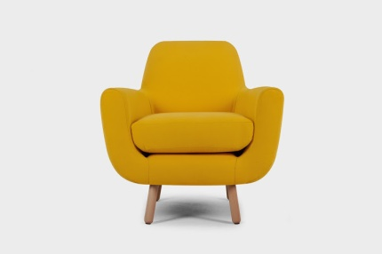 Made_Jonah Armchair Sunshine Yellow £449 FRONT