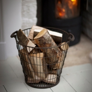 Wire log basket/carrier, €72, www.thebluedoordirect.ie