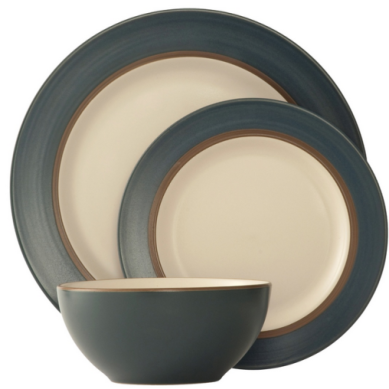 Belleek Pebble 12-piece stoneware dinner set, now €49.95, www.debenhams.ie
