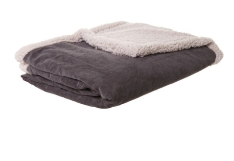 Linea Grey Corduroy Fleece Blanket, now around €45, www.houseoffraser.co.uk