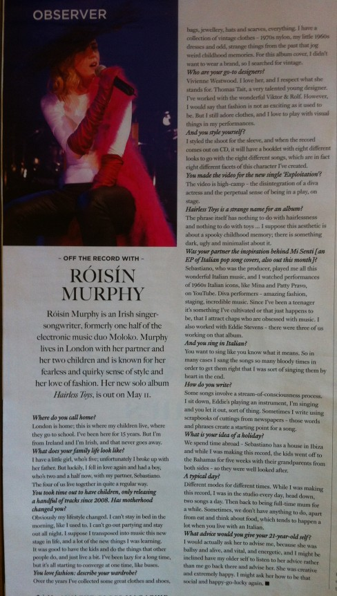 Interview: Roisin Murphy