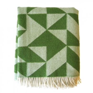 Tina Ratzer Twist A Twill Green Blanket, €120 on www.scoutdublin.com