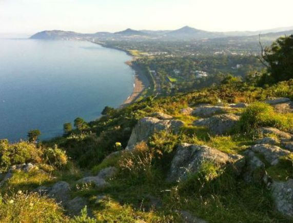 View from the coast side of Killiney Hill towards Bray Head