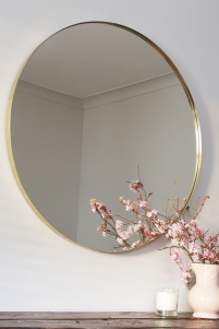 Irish design, handmade brass mirror from Gilded Hound, gildedhound.com